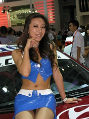 2010 Shenzhen International Auto Show (zikay's photography(no PS)) Tags: girl beauty model exhibition hyundai 车展 模特 走光 车模 现代 digitalcameraclub colorphotoaward 露底