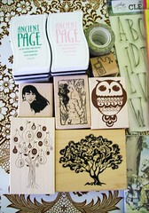 ink pad loot (Miss Thundercat) Tags: newyork stamps alice moma retro mounted rubberstamps craftsupplies inkpad unmounted