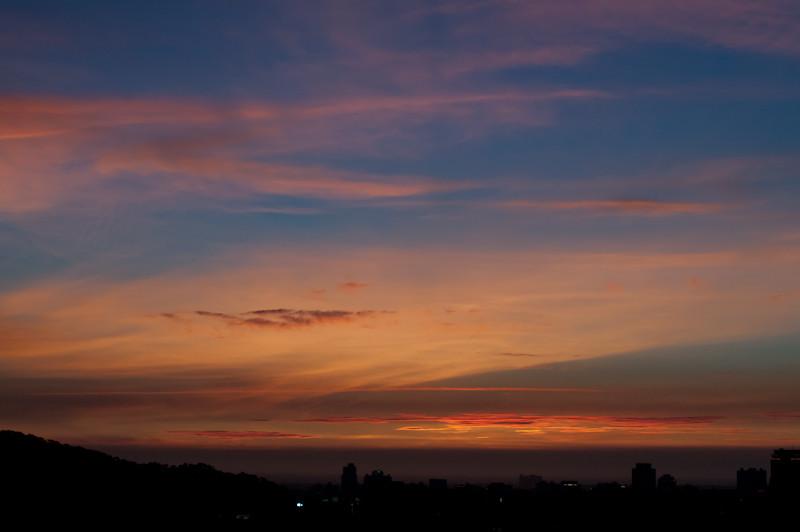 今天新竹傍晚的天空