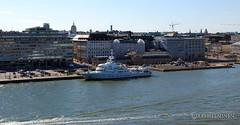 Huge yacht , Helsinki Harbor (Ari Helminen) Tags: ocean city sea summer nature water suomi finland coast helsinki nikon yacht vesi kes vene keskusta laiva d80 nikond80 yatti helsinkicoast