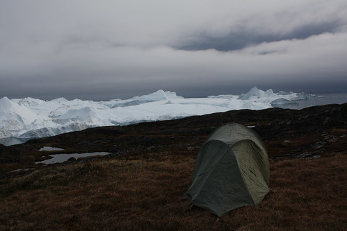 Camping near the Icefjord