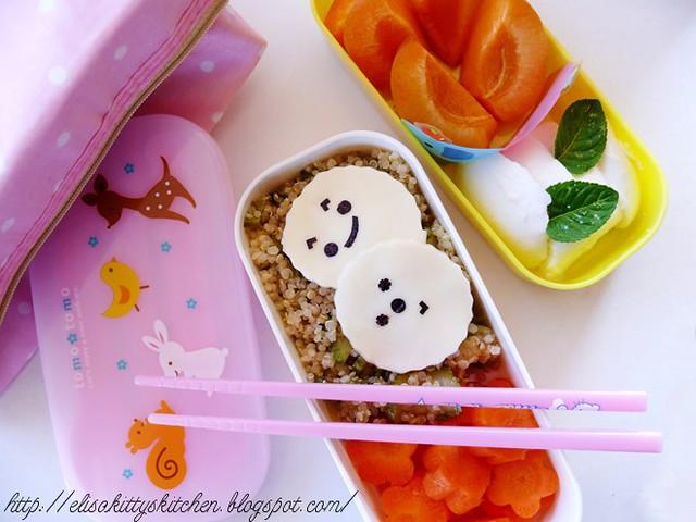Bento con insalata di quinoa