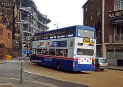 Travel West Midlands F41XOF (MCW1987) Tags: travel west green birmingham rear mk2 bullring midlands metrobus mcw 3041 acocks mk2a f41xof