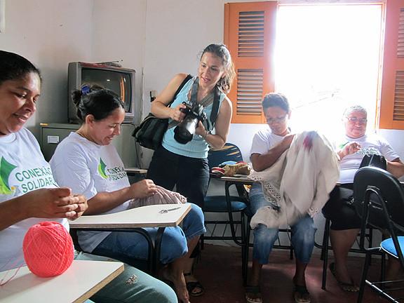 Sarah Shatz in Fortaleza, Brazil