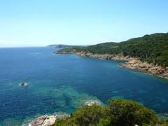 Depuis la tour de Sponsaglia : la côte Sud vers Marina Rasciata et Santa Manza