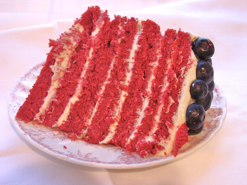 Slice of Stars and Stripes Cake