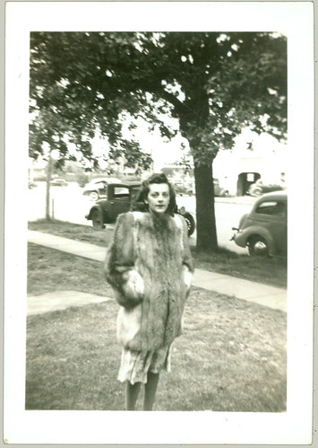 The fur coat on a summer's day.