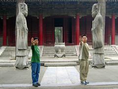 argonath absurth (Xuan Che) Tags: china travel friends summer portrait history 2004 boys statue stone architecture fun temple may culture confucius parody lordoftherings tradition canonixus400 tolkien worldheritage argonath shandong qufu rosemania