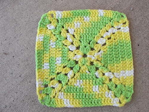 Simple motif makes a great dishcloth
