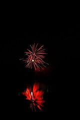 Fireworks on July 1st Canada Day, at CIF Waterloo, Ontario (Forest Wang) Tags: party ontario canada day fireworks 28mm july kitchener 200iso waterloo frisbee f80 canadaday 2010 july1st 1036pm 10secatf80 sonydslra230 july0110