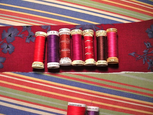all my reddish thread