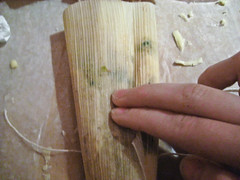 Making Tamales in Corn Husks