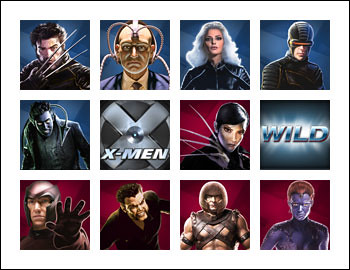 free X-Men slot game symbols