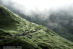 Mattina nebbiosa. (g.orsucci) Tags: panorama trekking switzerland svizzera montblanc montebianco tmb tourdumontblanc tourdelmontebianco