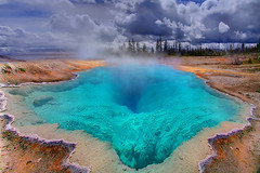 Yellowstone - The Deep Blue Hole (kevin mcneal) Tags: blue color nature photoshop landscape idaho yellowstonenationalpark wyoming