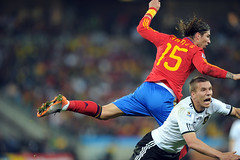 World Cup 2010 South Africa: Spain v Germany (toksuede) Tags: world africa cup sports sergio sport del germany deutschland foot football spain nikon fussball soccer south du weltmeisterschaft espana espanol lukas di deporte monde futbol coupe mundo copa futebol d3 ramos 2010 calcio podolski durban