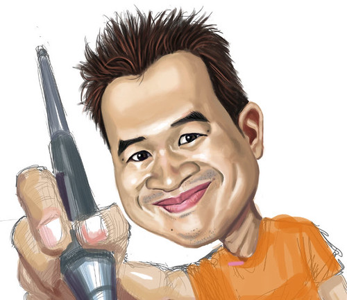 digital caricature of Jit - 3 small