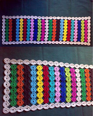 """Happy Circles Table Runner"" - COMPLETED!!! (LauraLRF) Tags: adorno art colors thread table arte camino circles crochet colores cotton hilo runner mesa sendero colorido algodon circulos decoracion tejido ganchillo redondeles"