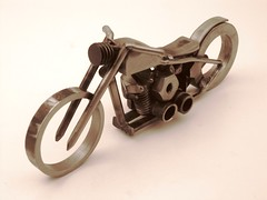 Motorcycle art metal sculpture