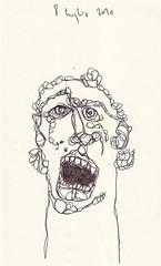 open your mouth and say ahhh (battarox) Tags: selfportrait face drawing picture autoritratto disegno viso faccia