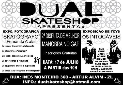 """""""Os Intocáveis' e expo.fotográfica """"Skatógrafo"""" na Dual Skateshop"""