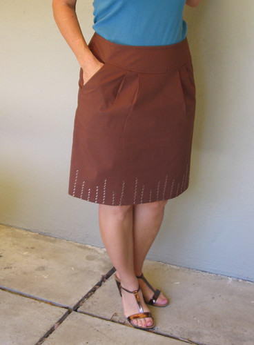 Brown skirt front