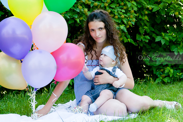 Летний фотопраздник. Андрюша и мама Лена. Детские фотосессии Гродно