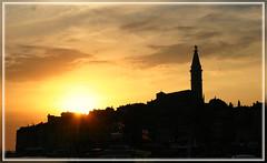 Sunset at Rovinj /Croatia (Rudolf Moser) Tags: sunset skyline croatia rovinj kroatien excapture