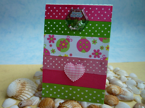 pink ladybird ribbon notebook