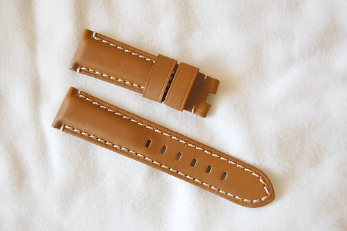 TAN 22mm Panerai strap, Deployant