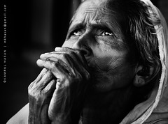 Unuttered words ... (Kamrul - Hasan) Tags: old portrait people bw woman monochrome lady lifestyle aged bangladesh