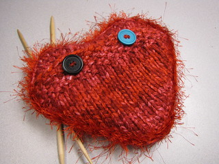 Knitted Heating/Cooling Pad - Back View