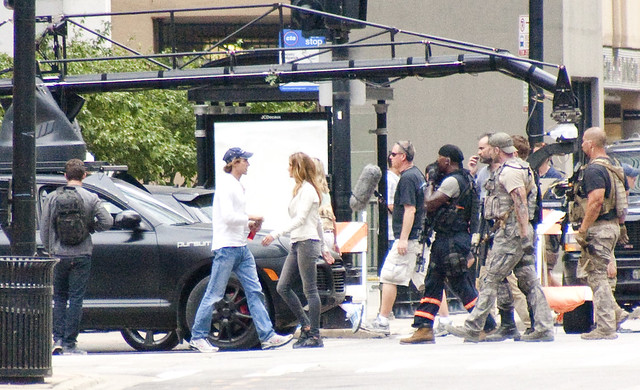 filming Rosie Huntington-Whiteley Carly Transformers 3