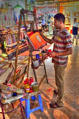 An Egyptian artist (Maine Surfer) Tags: vacation orange sun color beach painting artist egypt sharmelsheikh el arabic nightlife sheikh hdr hurgada shar pharaon  egypet