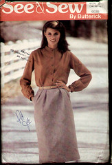 Butterick 6639 1970s Skirt Blouse (cemetarian) Tags: vintage pattern sewing skirt blouse 1970s butterick 6639