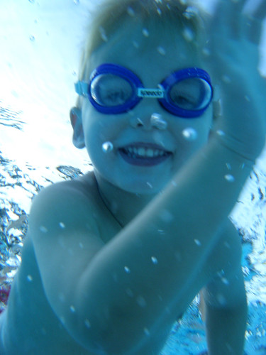 Nate swimming