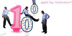 100 BABY!!! WHOOHOOO (m.sinjela) Tags: party rebel tie celebration clone holla xti strobist gettem 100100thday365 cloningcloningaroundpinkbluepokadotshirt ohyeahmilestonecanon
