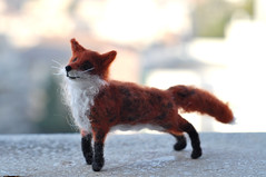 Needle felted fox (daria.lvovsky) Tags: animals ooak waldorf fox fiberart smallanimal softsculpture needlefelted childfriendly artistbears foxyred naturalkidsteam dollsandminiatures artdolletsy