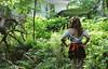 creationsdark (yyellowbird) Tags: red house selfportrait abandoned girl forest illinois sash ribbon cari dekalb