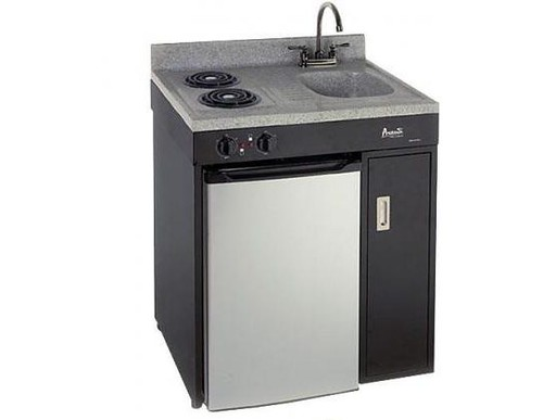 COMPACT KITCHEN AVANTI BLACK