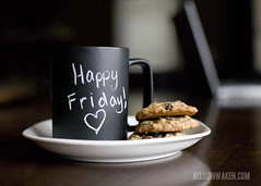 Happy Friday Flickr Friends! (allison.waken) Tags: coffee cookies chalk mac mug friday chalkbaord allisonwaken