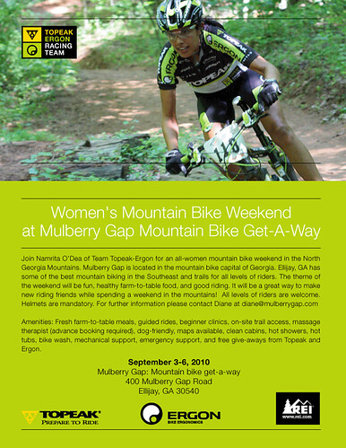 Women's Mountain Bike Weekend Sept 2010