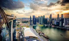 Marina Bay Sands and Singapore CBD (kazeeee) Tags: marina bay singapore district central business cbd sands mbs centralbusinessdistrict marinabay marinabaysands