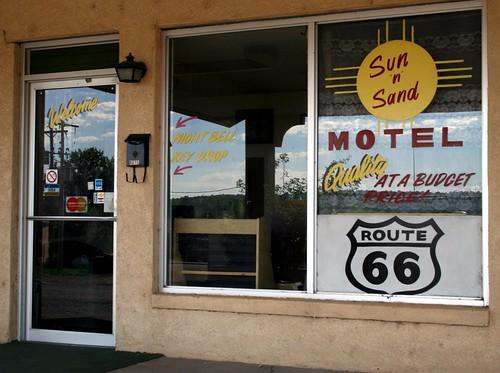 older sun ' sand motel lobby/office