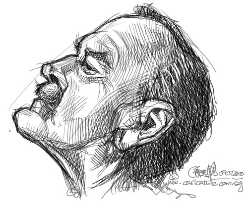 digital sketch studies of John Cleese - 5