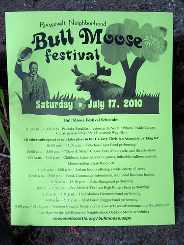 Bull Moose Festival, coming up