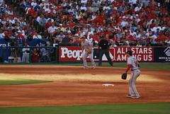 Martin Prado & Scott Rolen (racbar) Tags: baseball atlantabraves 2010 mlb cincinnatireds martinprado americanleague scottrolen nationalleague majorleaguebaseball angelsstadium anaheimca 2010mlballstargame