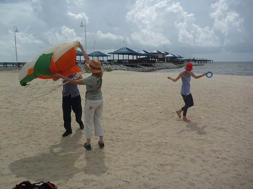 Launching the kite