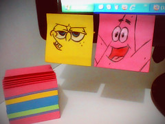 Post-it (SuellenLemos) Tags: computer pc drawing cartoon postit patrick spongebob draw spongebobsquarepants