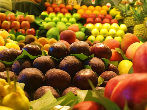 Fruit on Display and Ready for Sale, La Boqueria Market, Barcelona